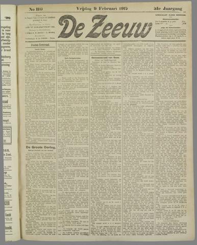 De Zeeuw. Christelijk-historisch nieuwsblad voor Zeeland 1917-02-09