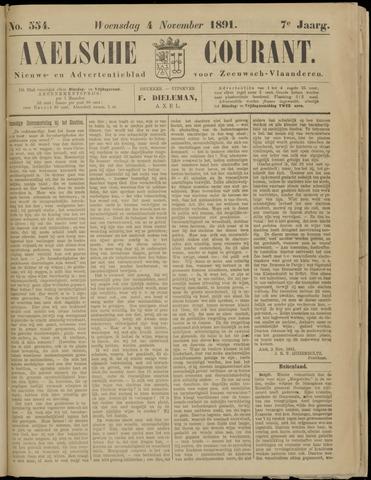 Axelsche Courant 1891-11-04