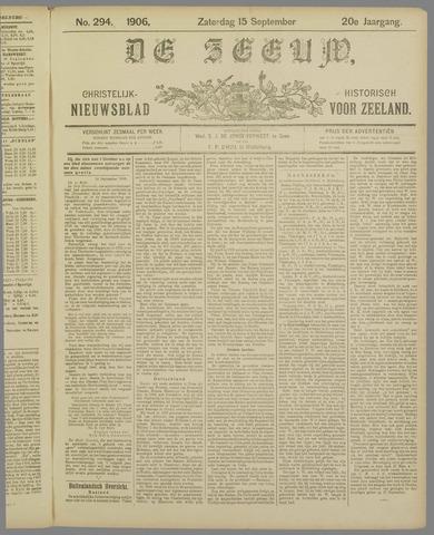 De Zeeuw. Christelijk-historisch nieuwsblad voor Zeeland 1906-09-15