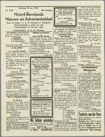 Noord-Bevelands Nieuws- en advertentieblad 1945-06-30