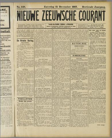 Nieuwe Zeeuwsche Courant 1917-12-15