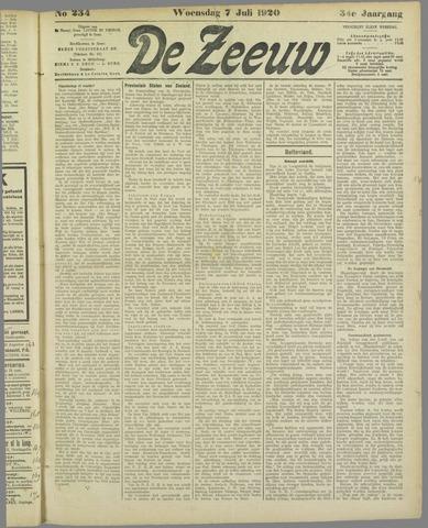 De Zeeuw. Christelijk-historisch nieuwsblad voor Zeeland 1920-07-07