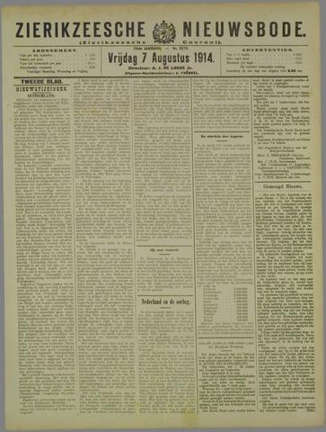 Zierikzeesche Nieuwsbode 1914-08-07