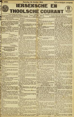 Ierseksche en Thoolsche Courant 1919-10-25