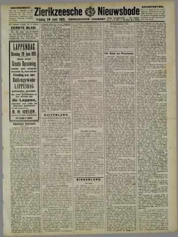 Zierikzeesche Nieuwsbode 1921-06-24
