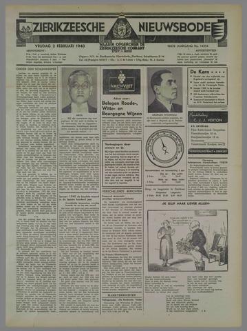 Zierikzeesche Nieuwsbode 1940-02-02