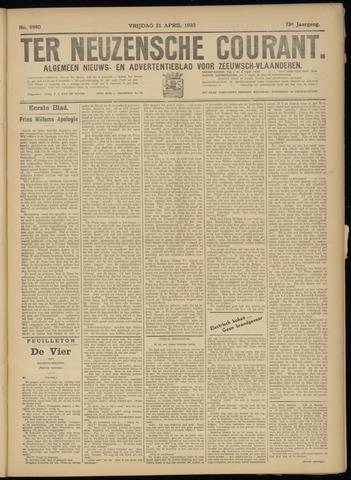 Ter Neuzensche Courant. Algemeen Nieuws- en Advertentieblad voor Zeeuwsch-Vlaanderen / Neuzensche Courant ... (idem) / (Algemeen) nieuws en advertentieblad voor Zeeuwsch-Vlaanderen 1933-04-21