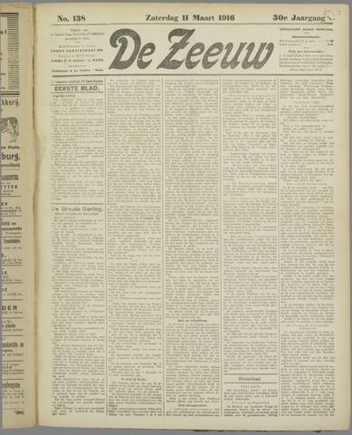 De Zeeuw. Christelijk-historisch nieuwsblad voor Zeeland 1916-03-11