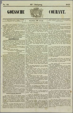 Goessche Courant 1857-07-13