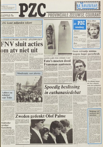 Provinciale Zeeuwse Courant 1986-03-11