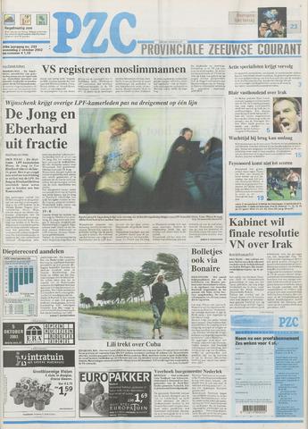 Provinciale Zeeuwse Courant 2002-10-02