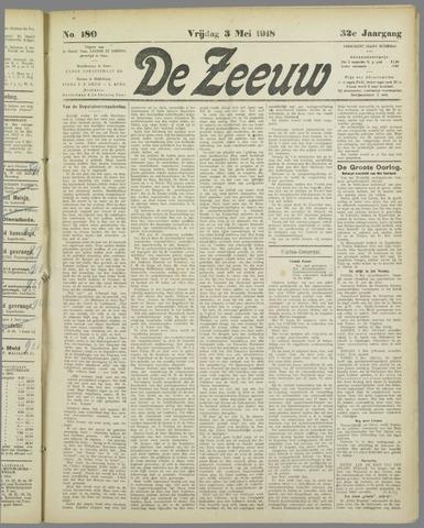 De Zeeuw. Christelijk-historisch nieuwsblad voor Zeeland 1918-05-03