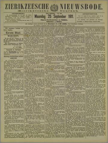 Zierikzeesche Nieuwsbode 1911-09-25