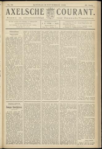 Axelsche Courant 1926-11-16