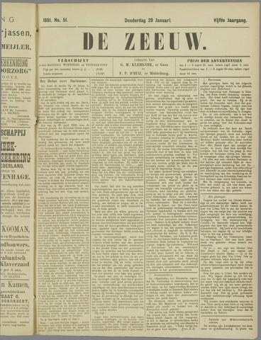 De Zeeuw. Christelijk-historisch nieuwsblad voor Zeeland 1891-01-29
