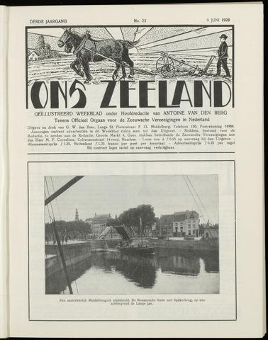 Ons Zeeland / Zeeuwsche editie 1928-06-09