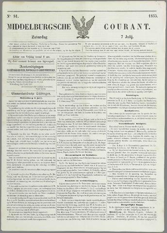 Middelburgsche Courant 1855-07-07