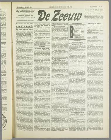 De Zeeuw. Christelijk-historisch nieuwsblad voor Zeeland 1934-02-17