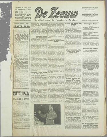 De Zeeuw. Christelijk-historisch nieuwsblad voor Zeeland 1937-10-01
