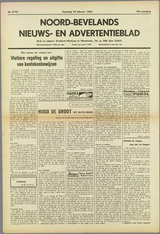 Noord-Bevelands Nieuws- en advertentieblad 1956-02-25