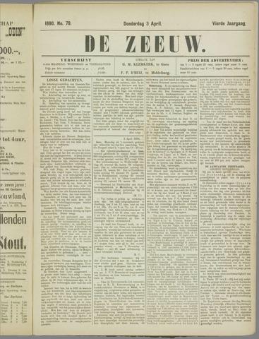 De Zeeuw. Christelijk-historisch nieuwsblad voor Zeeland 1890-04-03