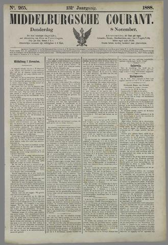 Middelburgsche Courant 1888-11-08