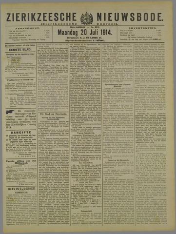 Zierikzeesche Nieuwsbode 1914-07-20