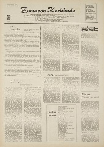 Zeeuwsche kerkbode, weekblad gewijd aan de belangen der gereformeerde kerken/ Zeeuwsch kerkblad 1969-09-25