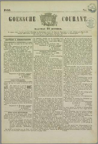Goessche Courant 1852-10-25