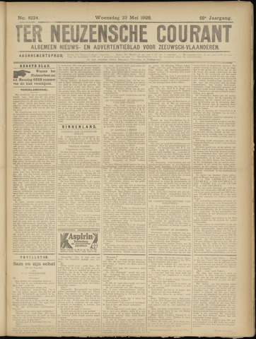 Ter Neuzensche Courant. Algemeen Nieuws- en Advertentieblad voor Zeeuwsch-Vlaanderen / Neuzensche Courant ... (idem) / (Algemeen) nieuws en advertentieblad voor Zeeuwsch-Vlaanderen 1928-05-23