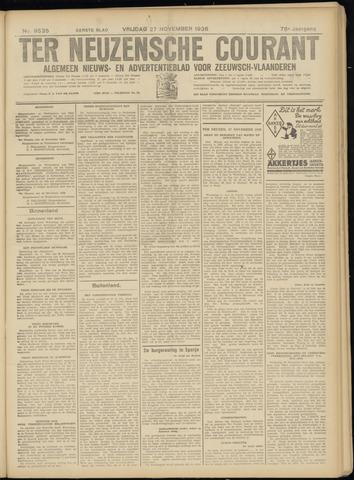 Ter Neuzensche Courant. Algemeen Nieuws- en Advertentieblad voor Zeeuwsch-Vlaanderen / Neuzensche Courant ... (idem) / (Algemeen) nieuws en advertentieblad voor Zeeuwsch-Vlaanderen 1936-11-27