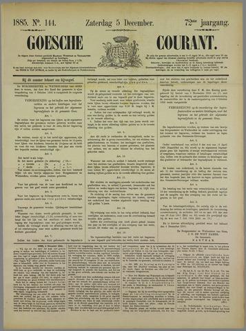 Goessche Courant 1885-12-05