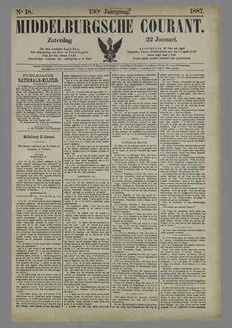 Middelburgsche Courant 1887-01-22