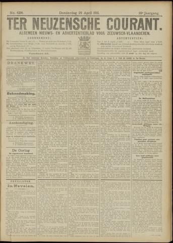 Ter Neuzensche Courant. Algemeen Nieuws- en Advertentieblad voor Zeeuwsch-Vlaanderen / Neuzensche Courant ... (idem) / (Algemeen) nieuws en advertentieblad voor Zeeuwsch-Vlaanderen 1915-04-29