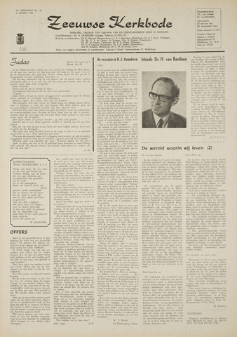 Zeeuwsche kerkbode, weekblad gewijd aan de belangen der gereformeerde kerken/ Zeeuwsch kerkblad 1969-03-13