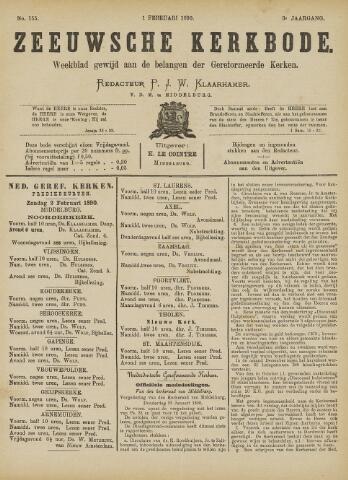Zeeuwsche kerkbode, weekblad gewijd aan de belangen der gereformeerde kerken/ Zeeuwsch kerkblad 1890-02-01