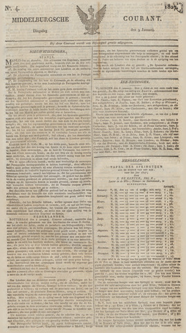 Middelburgsche Courant 1827-01-09