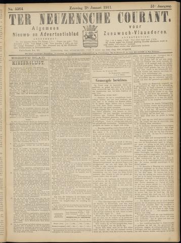Ter Neuzensche Courant. Algemeen Nieuws- en Advertentieblad voor Zeeuwsch-Vlaanderen / Neuzensche Courant ... (idem) / (Algemeen) nieuws en advertentieblad voor Zeeuwsch-Vlaanderen 1911-01-28