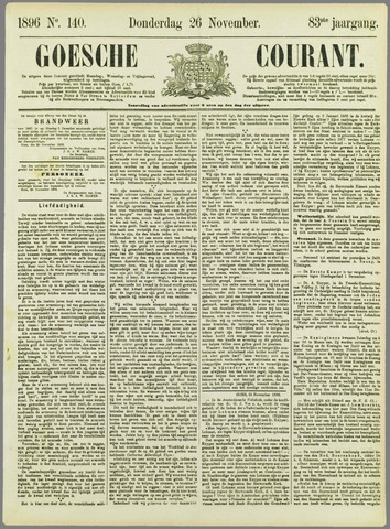 Goessche Courant 1896-11-26