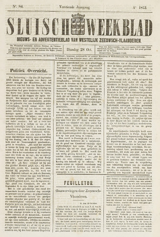 Sluisch Weekblad. Nieuws- en advertentieblad voor Westelijk Zeeuwsch-Vlaanderen 1873-10-28
