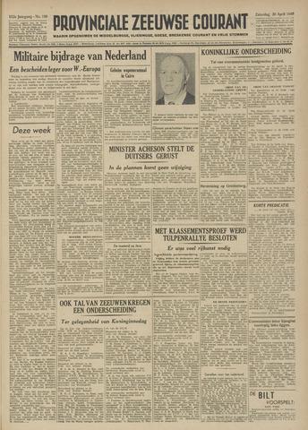 Provinciale Zeeuwse Courant 1949-04-30