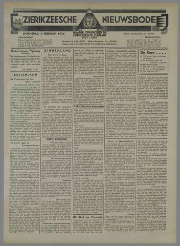 Zierikzeesche Nieuwsbode 1936-02-05
