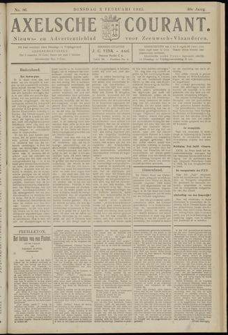 Axelsche Courant 1925-02-03