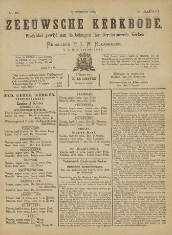 Zeeuwsche kerkbode, weekblad gewijd aan de belangen der gereformeerde kerken/ Zeeuwsch kerkblad 1889-10-12