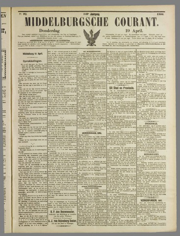 Middelburgsche Courant 1906-04-19