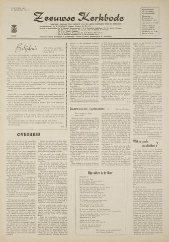 Zeeuwsche kerkbode, weekblad gewijd aan de belangen der gereformeerde kerken/ Zeeuwsch kerkblad 1969-10-30