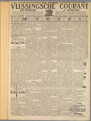 Vlissingse Courant 1915