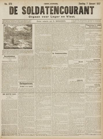 De Soldatencourant. Orgaan voor Leger en Vloot 1917-01-07