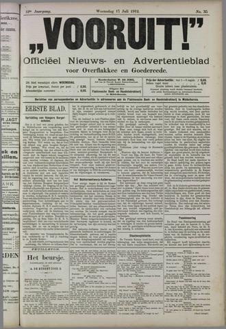 """""""Vooruit!""""Officieel Nieuws- en Advertentieblad voor Overflakkee en Goedereede 1912-07-17"""