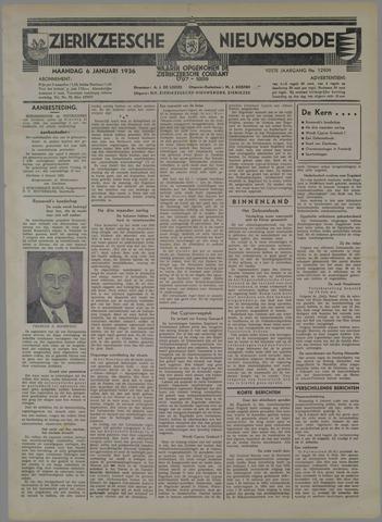 Zierikzeesche Nieuwsbode 1936-01-06